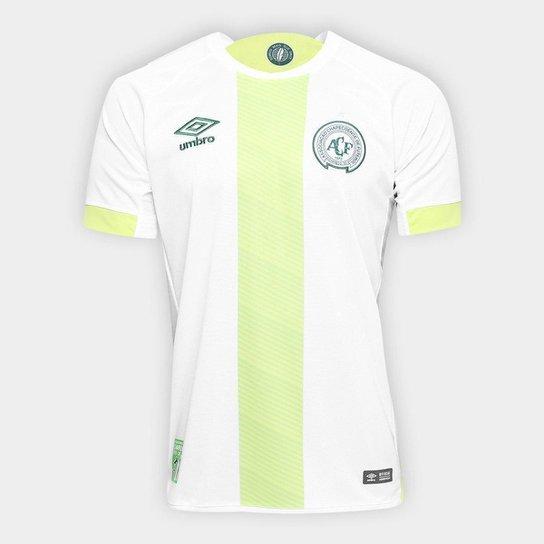 da45455c447ba Camisa Chapecoense II 17/18 s/nº Torcedor Umbro Masculina - Branco+Verde