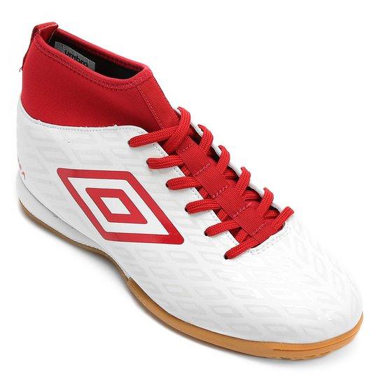 9126c18c41 6cc7b8c5448641  Chuteira Futsal Umbro Calibra Masculina - Branco e Vermelho  - Compre .