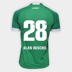 Camisa Chapecoense I 2018 N° 28 Alan Ruschel - Torcedor Umbro Masculina 9791e010383a2