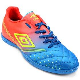 Chuteira Futsal Umbro Fifty - Preto e Azul - Compre Agora  22827dd54fbb6