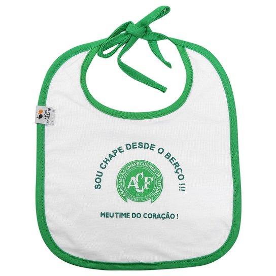 Babador Chapecoense Infantil Time do Coração - Branco+Verde