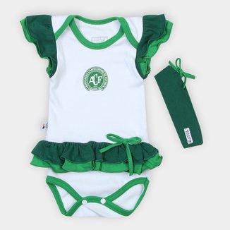 Body Infantil Chapecoense Vestido c/ Tiara