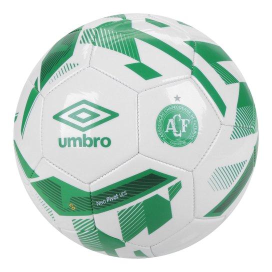 Bola de Futebol Campo Chapecoense Umbro Neo Pivot - Branco+Verde