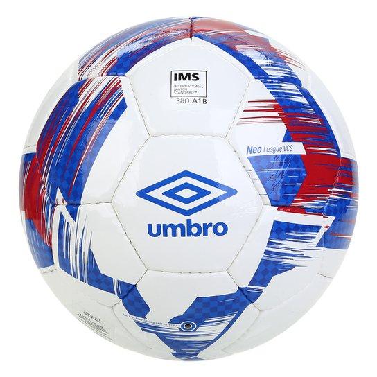 Bola de Futebol Campo Umbro Neo League - Branco+Vermelho