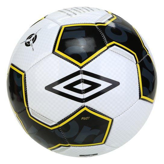 Bola de Futebol Campo Umbro Pivot Supporter - Branco+Amarelo