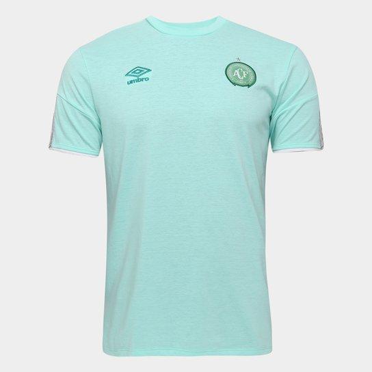 Camisa Chapecoense Concentração 20/21 Umbro Masculina - Verde+Branco