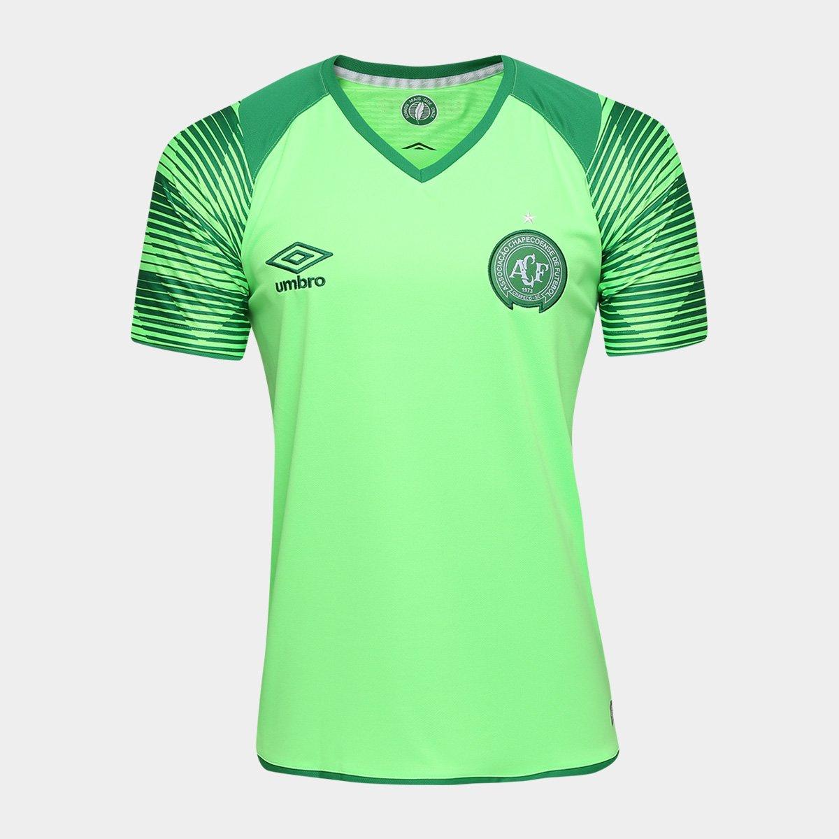 1225824cb71bf Camisa Chapecoense Goleiro 17/18 nº 1 Torcedor Umbro Masculina - Verde  claro | Loja da Chape