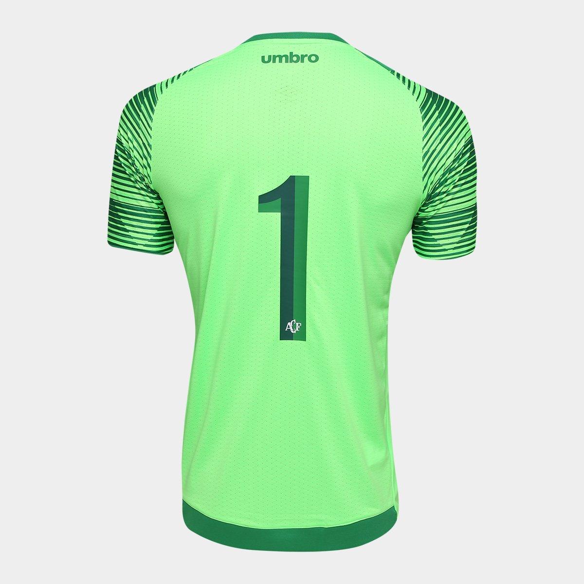 ... Camisa Chapecoense Goleiro 17 18 nº 1 Torcedor Umbro Masculina ... e9814120e745c