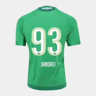 Camisa Chapecoense I 17/18 Nº 93 Jandrei Torcedor Umbro Masculina