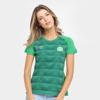 Camisa Chapecoense I 17/18 s/nº Torcedor Umbro Feminina