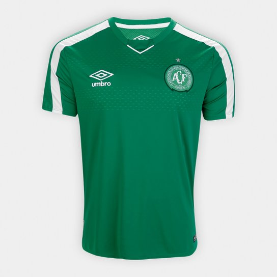 Camisa Chapecoense I 19/20 s/nº Torcedor Umbro Masculina - Verde+Branco