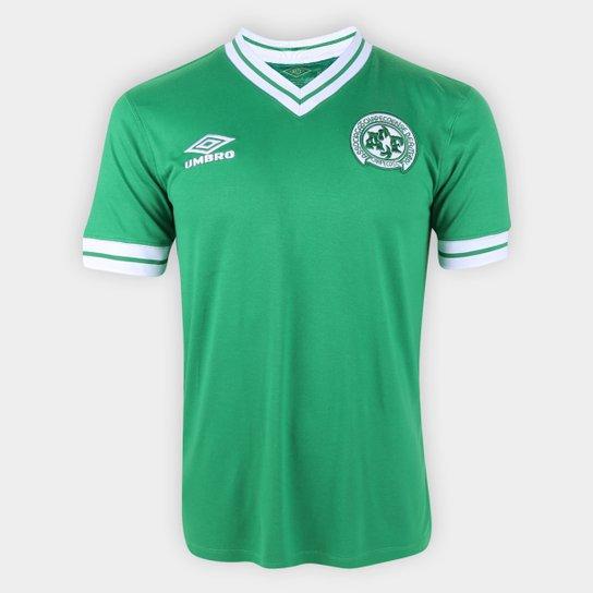 Camisa Chapecoense I 1977 s/n° Torcedor Edição Especial Umbro Masculina - Verde+Branco