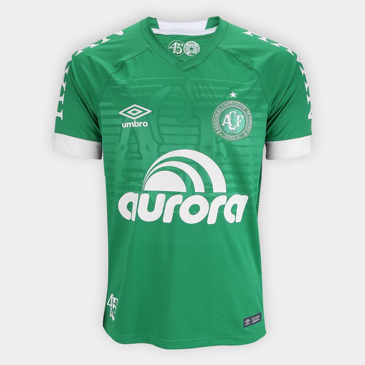 77a7e3ffc9deb Camisa Chapecoense I 2018 s n° Jogador Umbro Masculina - Compre Agora