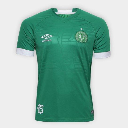 Camisa Chapecoense I 2018 s/n° Torcedor Umbro Masculina - Verde+Branco
