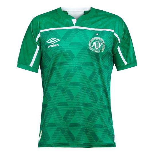 Camisa Chapecoense I 20/21 s/n° Torcedor Umbro Masculina - Verde+Branco
