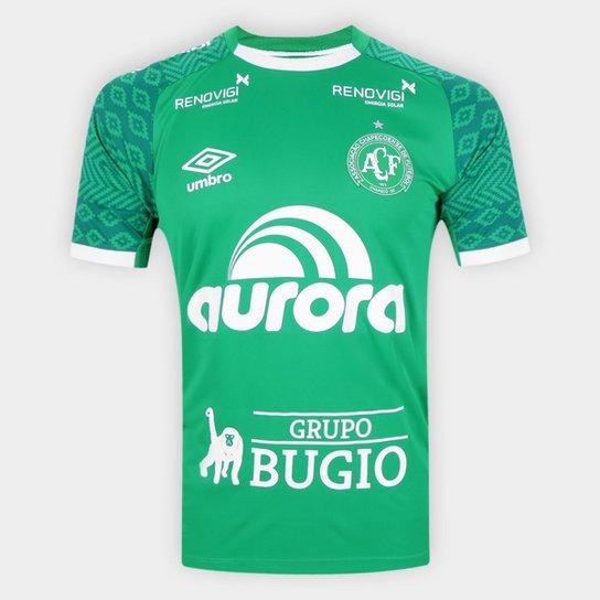 Camisa Chapecoense I 21/22 s/n° Jogador Umbro Masculina - Verde+Branco