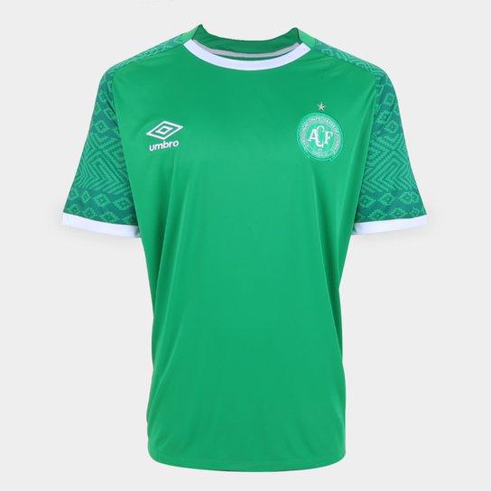 Camisa Chapecoense I 21/22 s/n° Torcedor Umbro Masculina - Verde+Branco