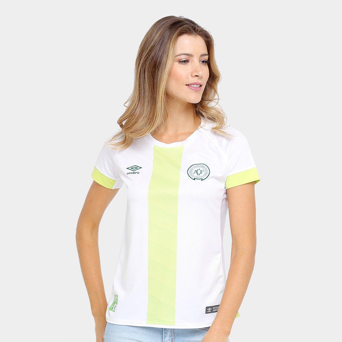 Camisa Chapecoense II 17 18 s nº - Torcedor Umbro Feminina 6a5c3e945b9fd