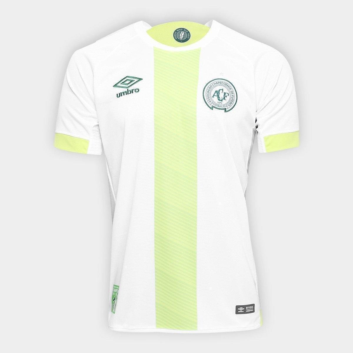 e75cec25b5 Camisa Chapecoense II 17/18 s/nº Torcedor Umbro Masculina - Branco e Verde  | Loja da Chape