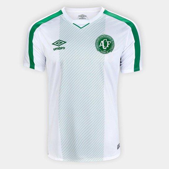 Camisa Chapecoense II 19/20 s/nº Jogador Umbro Masculina - Branco+Verde