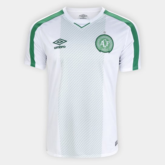 Camisa Chapecoense II 19/20 s/nº Torcedor Umbro Masculina - Branco+Verde