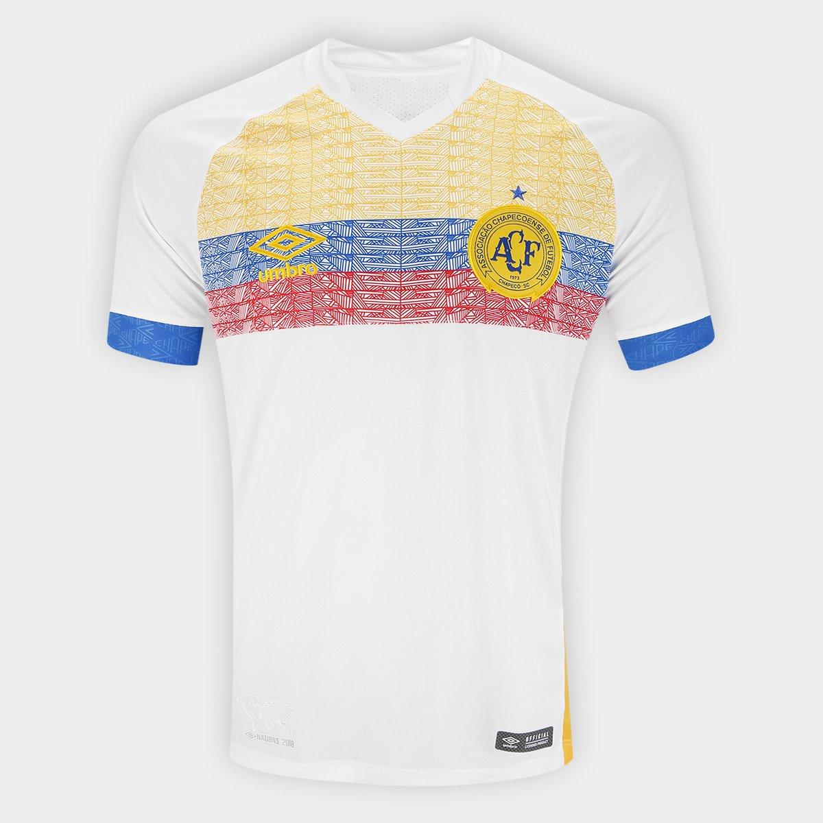 Camisa Chapecoense II 2018 s n° La Pasion Torcedor Umbro Masculina ... edf61e601f3c1