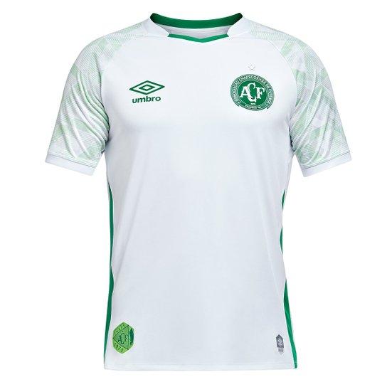 Camisa Chapecoense II 20/21 s/nº Torcedor Umbro Masculina - Branco+Verde