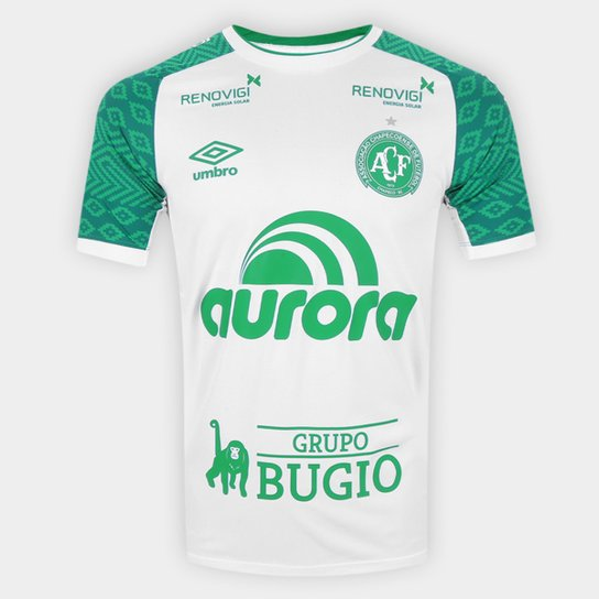 Camisa Chapecoense II 21/22 s/n° Jogador Umbro Masculina - Branco+Verde