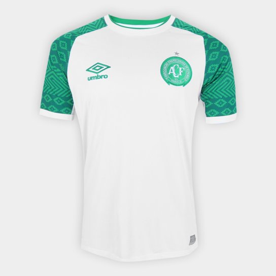 Camisa Chapecoense II 21/22 s/n° Torcedor Umbro Masculina - Branco+Verde