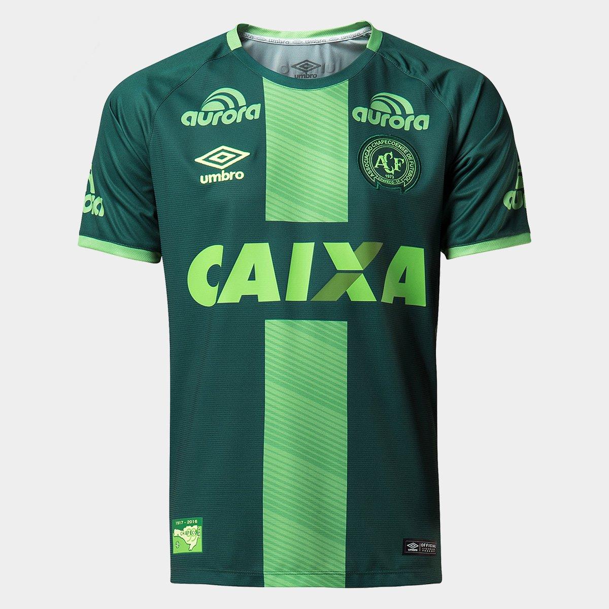 b94ae7a575 Camisa Chapecoense III 16/17 s/nº Torcedor Umbro Masculina - Verde | Loja  da Chape