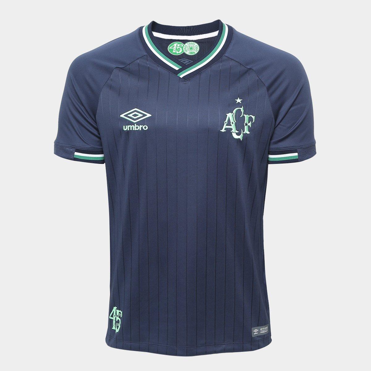 638d2fac7c Camisa Chapecoense III 2018 s n° Torcedor Umbro Masculina - Marinho e Verde  - Compre Agora