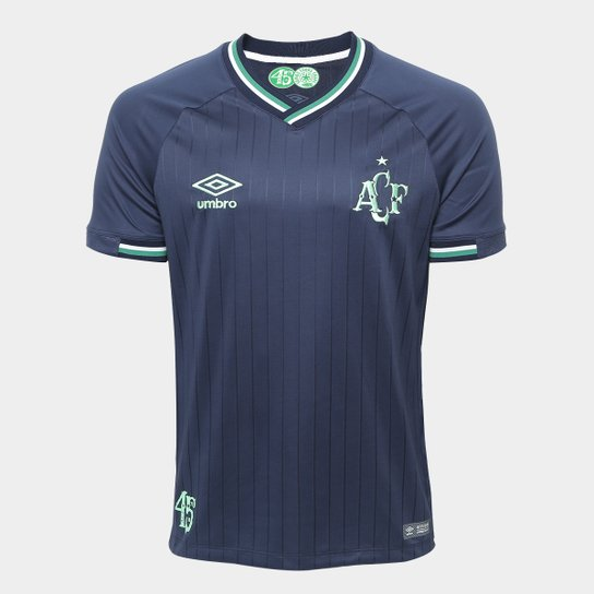 Camisa Chapecoense III 2018 s/n° Torcedor Umbro Masculina - Marinho+Verde