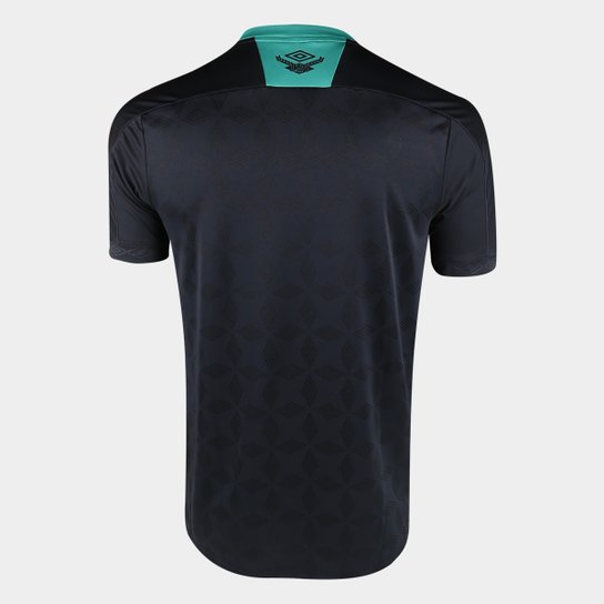 Camisa Chapecoense III 20/21 s/n° Torcedor Umbro Masculina - Preto+verde