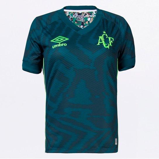 Camisa Chapecoense III 21/22 s/n° Torcedor Umbro Feminina - Verde