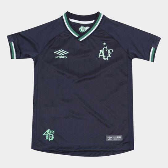 Camisa Chapecoense Infantil III 2018 s/n° Torcedor Umbro - Marinho+Verde