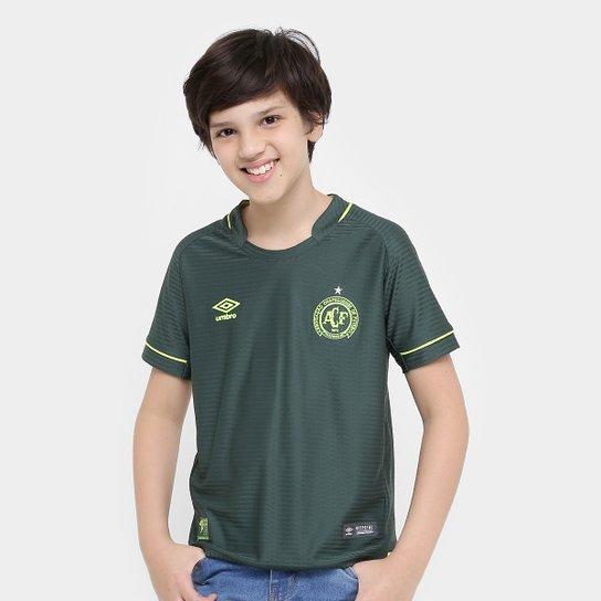 Camisa Chapecoense Infantil Libertadores s/nº Torcedor Umbro - Verde