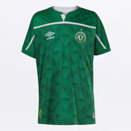 Camisa Chapecoense Juvenil I 20/21 s/n° Torcedor Umbro - Verde+Branco