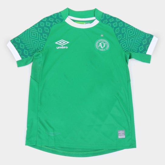 Camisa Chapecoense Juvenil I 21/22 s/n° Torcedor Umbro - Verde+Branco