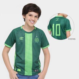 Camisa Chapecoense Juvenil III 16/17 nº10 Torcedor Umbro Masculino