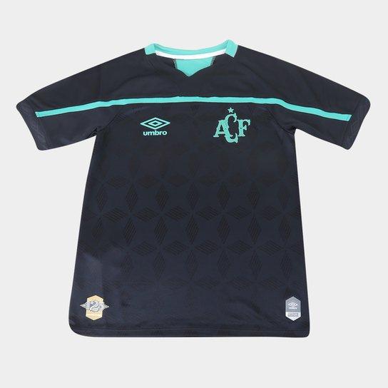 Camisa Chapecoense Juvenil III 20/21 s/n° Torcedor Umbro - Preto+verde