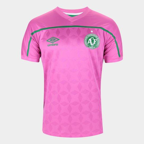 Camisa Chapecoense Outubro Rosa 20/21 s/n° Torcedor Umbro Masculina - Rosa+Verde