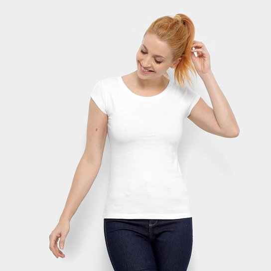 Camiseta Chapecoense Blanks Feminina - Branco