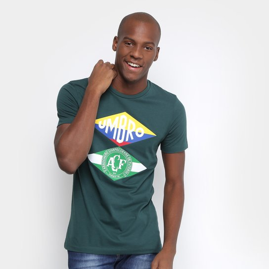 Camiseta Chapecoense Flag Umbro Masculina - Verde