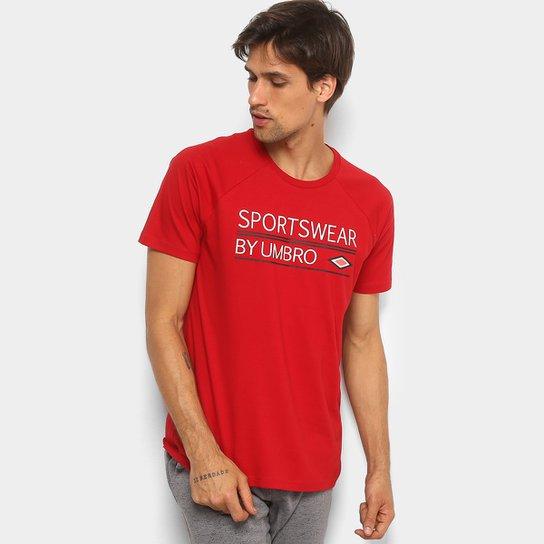 Camiseta Umbro Clássica Masculina - Bordô