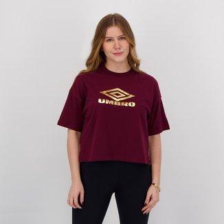 Camiseta Umbro Diamond Strip Feminina Bordô