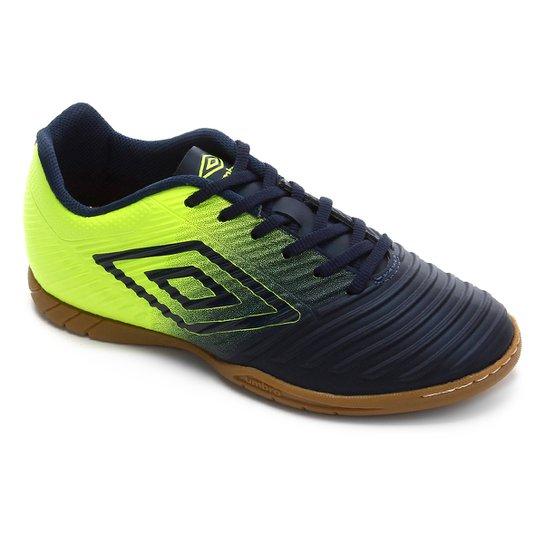 Chuteira Futsal Fifty III Umbro - Marinho+Verde Limão