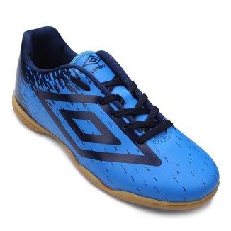 Chuteira Futsal Infantil Umbro Acid - Azul e Marinho