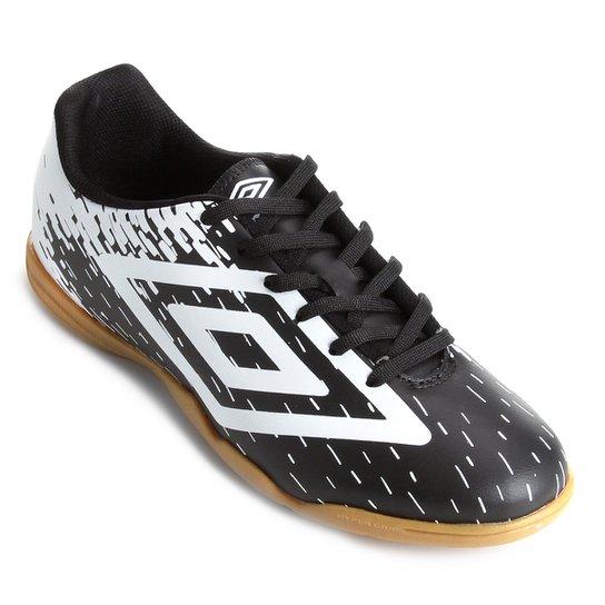 Chuteira Futsal Umbro Acid - Preto+Branco