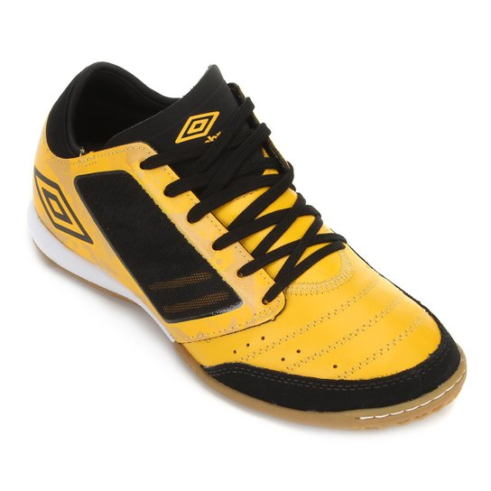 Chuteira Futsal Umbro Chaleira ID - Amarelo+Preto