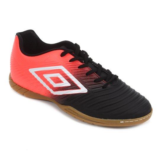 Chuteira Futsal Umbro Fifty III - Preto+Branco